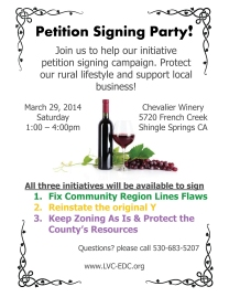 Chevalier petition signing party