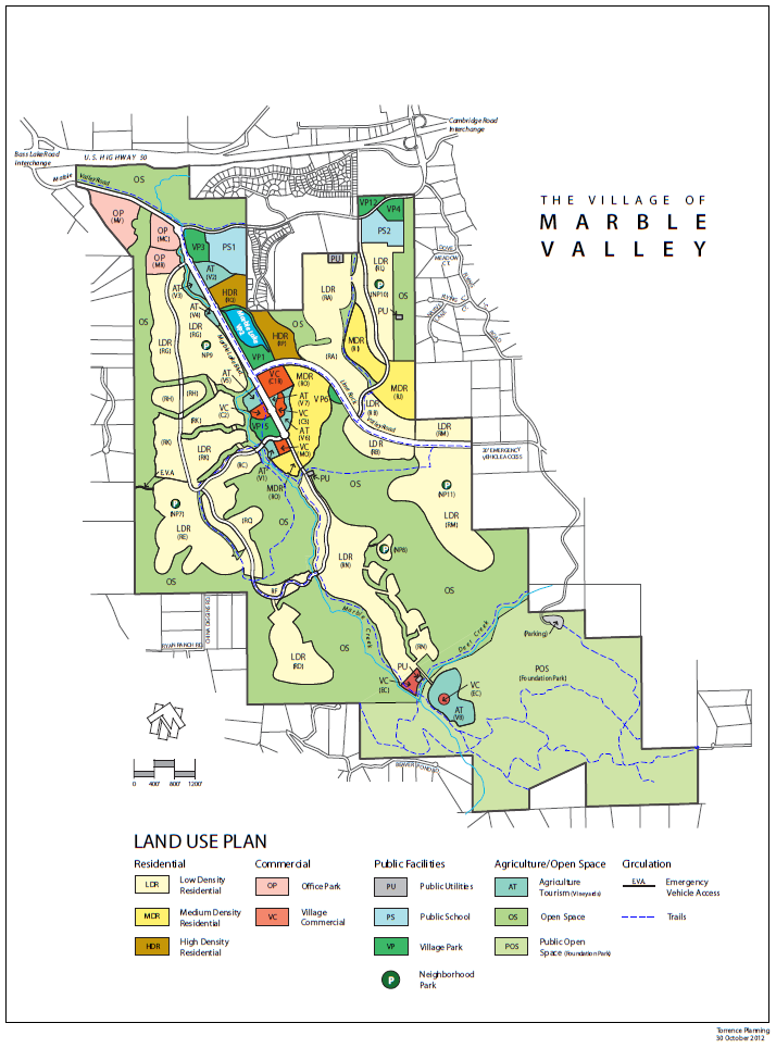 Marble Valley - Lime Rock land use map