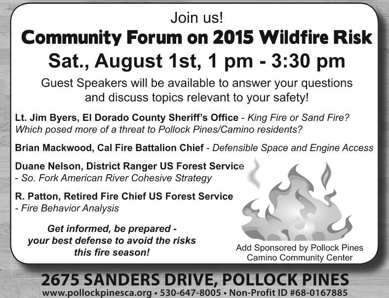 Community Forum on 2015 Wildfire Risk