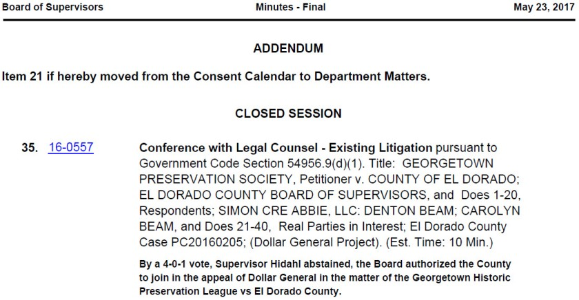 Dollar General – Georgetown – Save Our County